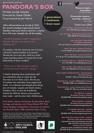 Pandora's Box 2014 - Spora Stories [back of flyer]