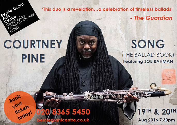 Courtney Pine at Bernie Grant Arts Centre, 2016
