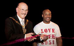Deputy Mayor of Croydon Councillor David Fitze with Chris Syrus of the Syrus Consultancy [image Alice St Rose]