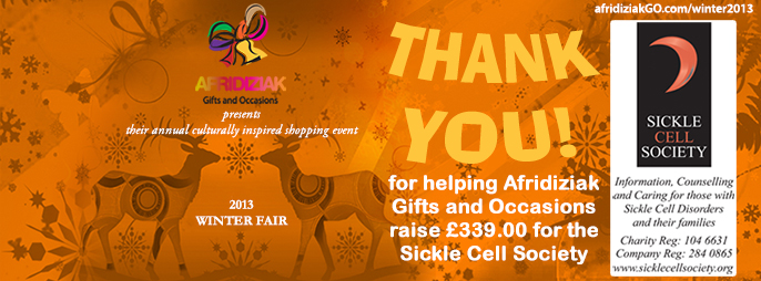 Afridiziak Gifts and Occasions Winter Fair raises funds for Sickle Cell Society