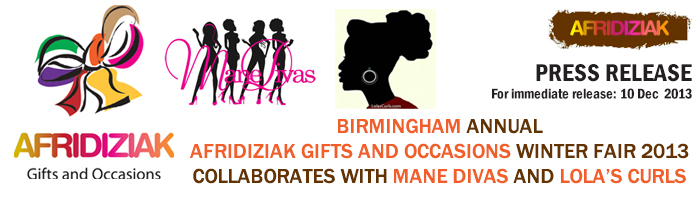Birmingham annual Afridiziak Gifts and Occasions Winter Fair 2013