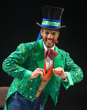 Turbo as the Mad Hatter in The Mad Hatter's Tea Party © ROH 2014. Photographed by Alice Pennefather