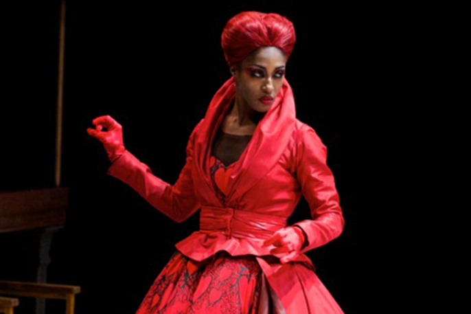 Teneisha Bonner as The Queen of Hearts in The Mad Hatter's Tea Party © ROH 2014. Photographed by Alice Pennefather