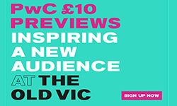 PwC £10 Previews ticket release - The American Clock, The Old Vic