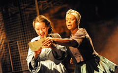 Sarah Ovens (Angelica) Dona Croll (Juanita) RSC Heresy of Love by Rob Day