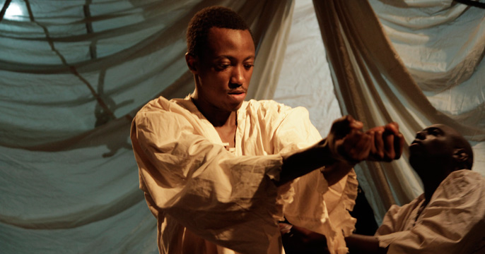 Lekan in Silver Shores played by Emmanuel Akintunde [image credit by Andrew Alderslade]