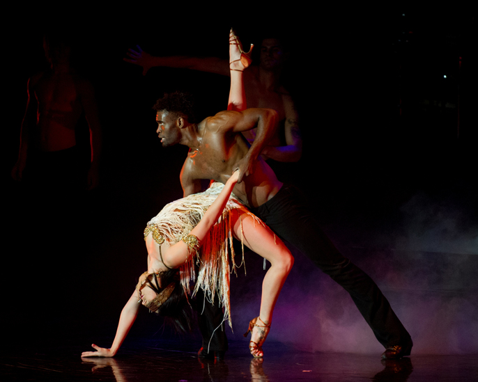 Keoikantse Motsepe and Kallyanne Brown in Burn the Floor