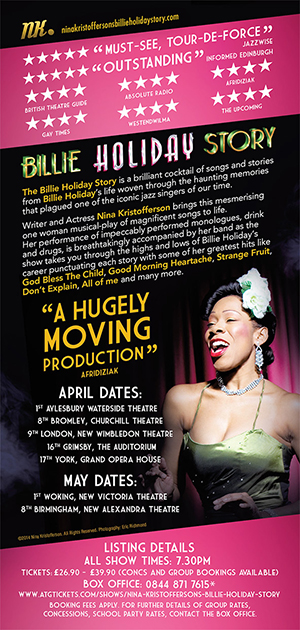Billie Holiday Story 2014 tour dates