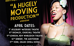Nina Kristofferson's Billie Holiday Story on tour 2014
