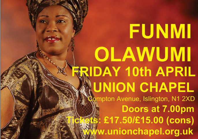 Funmi Olawumi, 10 April 2015 at Union Chapel