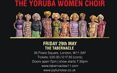 The Yoruba Women Choir  + Femi Sofela  live at the Tabernacle