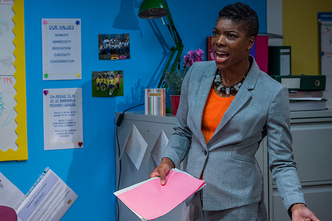 School Play at Southwark Playhouse Ann Ogbomo (Jo) Credit Guy Bell