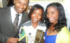Jamaican Olympian Shelly-Ann Fraser-Pryce celebrates Olympic Torch Bearers at Diana Award Olympics Celebration Brunch