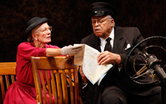 Driving Miss Daisy, Vanessa Redgrave (Daisy Werthan) and James Earl Jones (Hoke Coleburn) photo credit Carol Rosegg
