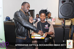 Jimmy Akingbola and Sophia A Jackson [image credit Afridiziak Gifts and Occasions 2011 - Mellz Photography