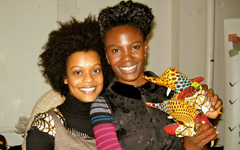 Shingai Shoniwa [The Noisettes] with Tata and Friends at The 2011 Afridiziak Gifts and Occasions Xmas shopping boutique - [image CottonCandyFlamingo]