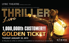 Thriller - Live sells 1,000,000 tickets and celebrates starting its 5th year in the West End