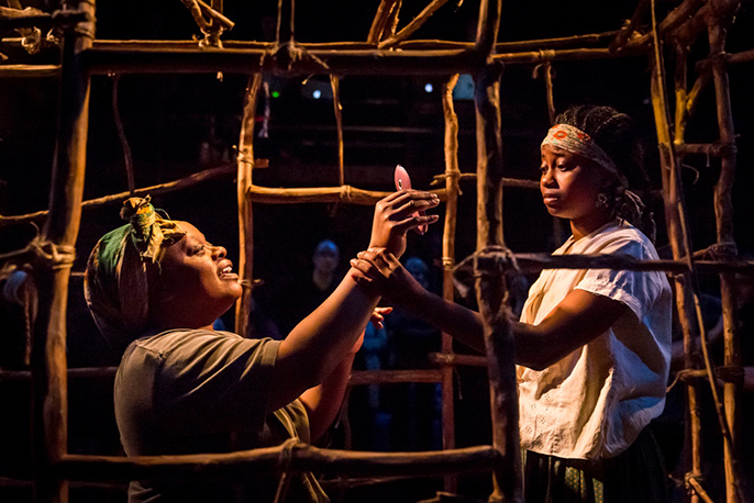 Cecilia Noble & Juma Sharkah in Liberian Girl at the Royal Court. Credit Johan Persson