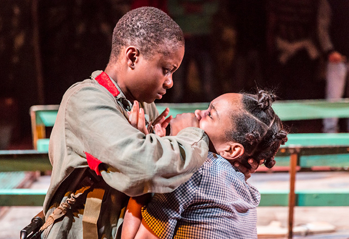 Juma Sharkah & Weruche Opia in Liberian Girl at the Royal Court. Credit Johan Persson