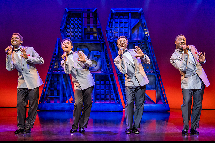 Motown The Musical West End Cast - The Four Tops - credit Tristram Kenton