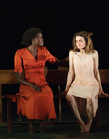 Sheila Atim (Marianne Laine) Shirley Henderson (Elizabeth Laine) in Girl From The North Country at The Old Vi