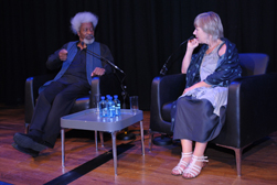 Wole Soyinka and Jude Kelly OBE at the Collective Artistes gala evening - © Anthony Ofoegbu