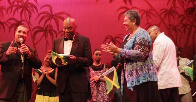 Her Excellency the High Commissioner of Jamaica Mrs Aloun Ndombel  Assamba, George Ruddock [images by Shurwin Harewood]