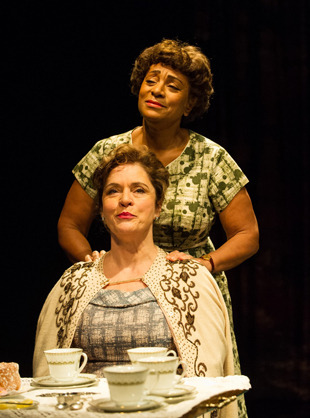 Dona Croll (Olivia) and Diana Quick (Eva) in The American Plan at St. James Theatre. Photo credit Jane Hobson