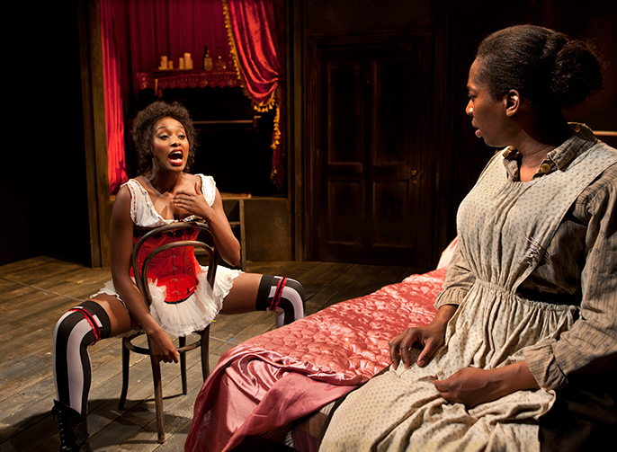 Intimate Apparel. Rochelle Neil and Tanya Moodie. Photo credit Simon Annand