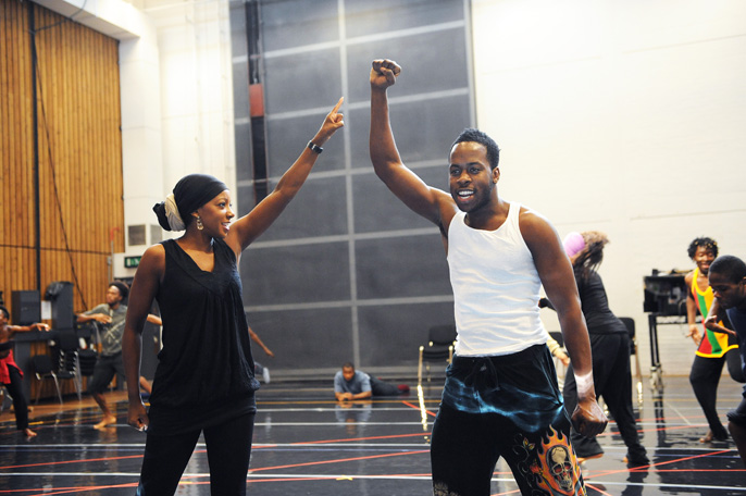 Fela National rehearsal | images by Tristram Kenton