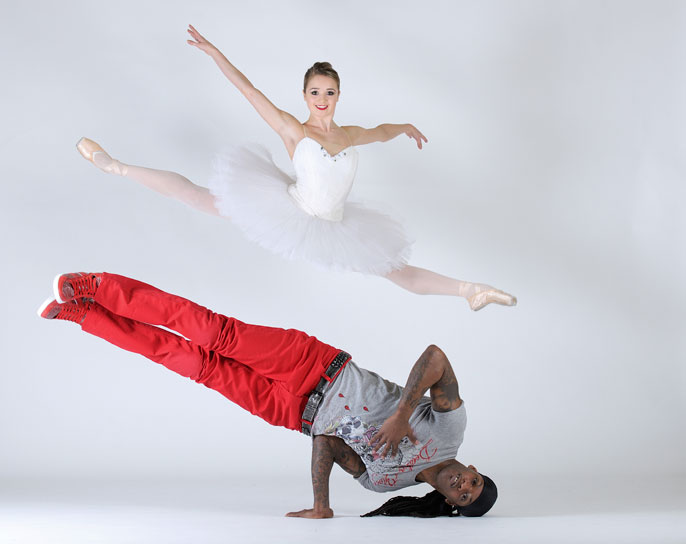 Laurent Liotardo Dancer- Nancy Osbaldeston and Paul 'STEADY' Steadman [image by Laurent Liotardo]