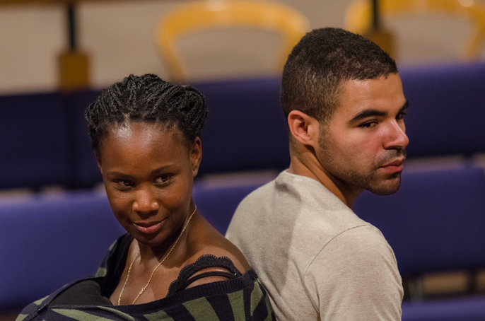 Unrivalled Landscape - Nicola Alexis (Kizzy) & Ash Hunter (Faris) in Archie Maddocks' play Kizzy and the Prince - Orange Theatre