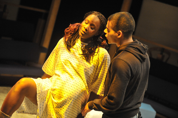 Nicola Alexis and Ash Hunter in UNRIVALLED LANDSCAPE - Orange Tree Theatre [image by Robert Day]