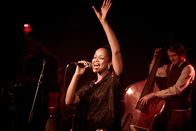 Vimala Rowe in Cafe Society Swing © David Ellis