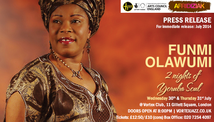 Funmi Olawumi live at the Vortex