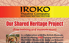 IROKO Theatre presents Connecting Cultures through Objects
