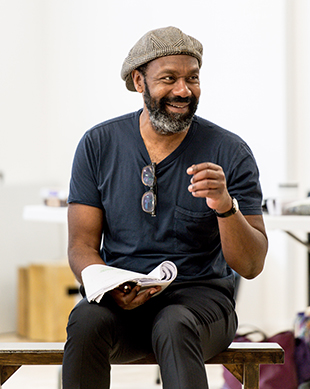 Lenny Henry in Chichester Festival Theatre's Educating Rita rehearsals. Photo Manuel Harlan
