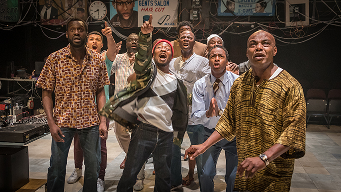 Barber Shop Chronicles at the National Theatre (c) Marc Brenner