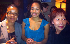 Three Esthers, Moon on a Rainbow Shawl press night