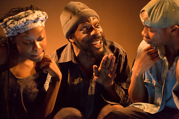 The Rise and Shine of Comrade Fiasco at Gate Theatre. Photo credit Michael Shelford
