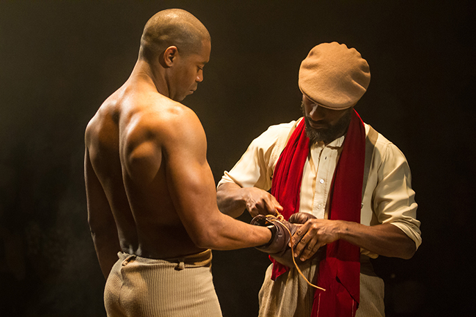 Nicholas Pinnock and Clint Dyer in The Royale. Photography by Helen Murray