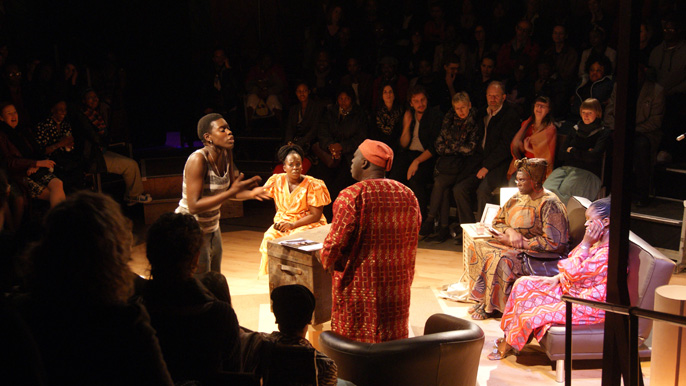 Pandora's Box by Ade Solanke at the Arcola Tent [image credit Kweku Fleming]