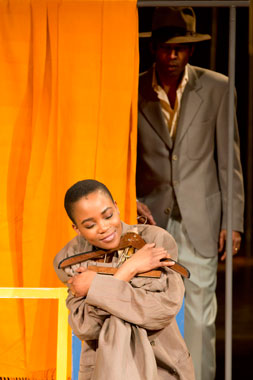 The Suit - Matilda (Nonhlanhla Khewsa) and Philemon (William Nadylam). Photo by Johan Persson