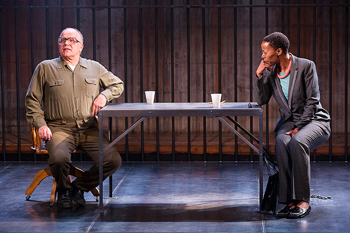 A Human Being Died That Night. Hampstead Theatre. Photo credit Jesse Kate Kramer