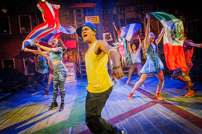 The Company of IN THE HEIGHTS. Photo Credit Robert Workman