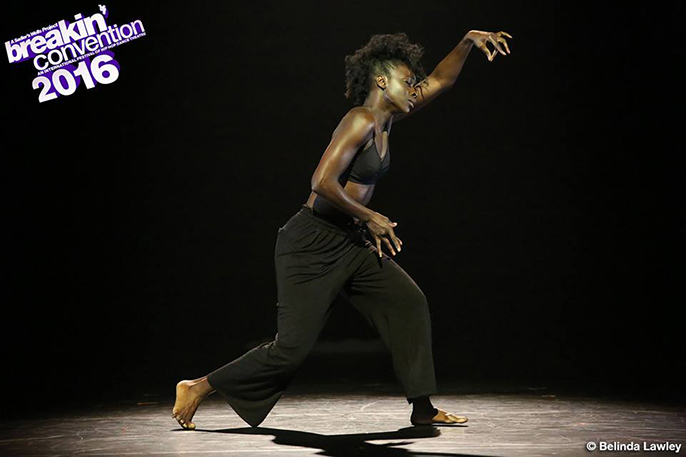 Antoinette Gomis at Breakin' Convention 2016 London, Sadler's Wells.   Photo © Belinda Lawley — at Breakin' Convention