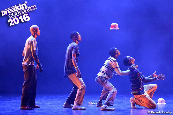 Soweto Skeleton Pantsula at Breakin' Convention 2016 London, Sadler's Wells.   Photo © Belinda Lawley — at Breakin' Convention