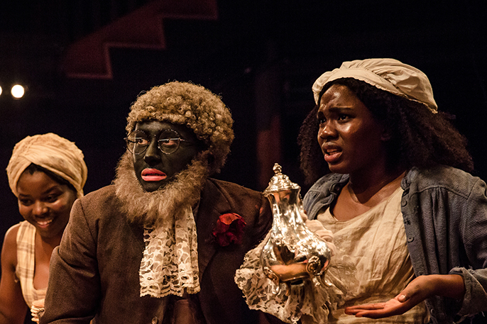 Emmanuella Cole, Alistair Toovey and Vivian Oparah in An Octoroon - Orange Tree Theatre. Photo by The Other Richard