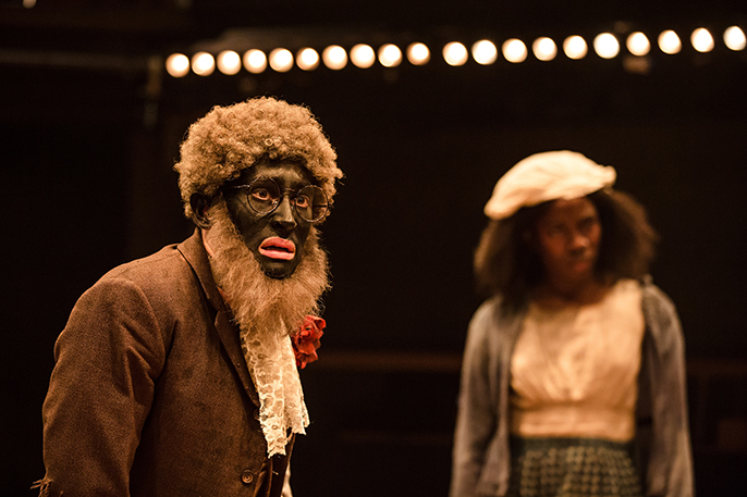 Alistair Toovey and Vivian Oparah in An Octoroon - Orange Tree Theatre. Photo by The Other Richard