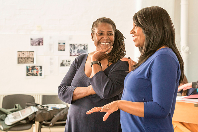 Sharon D Clarke & Nicola Hughes in rehearsal for Chichester Festival Theatre's production of Caroline, Or Change. Photo Marc Brenner